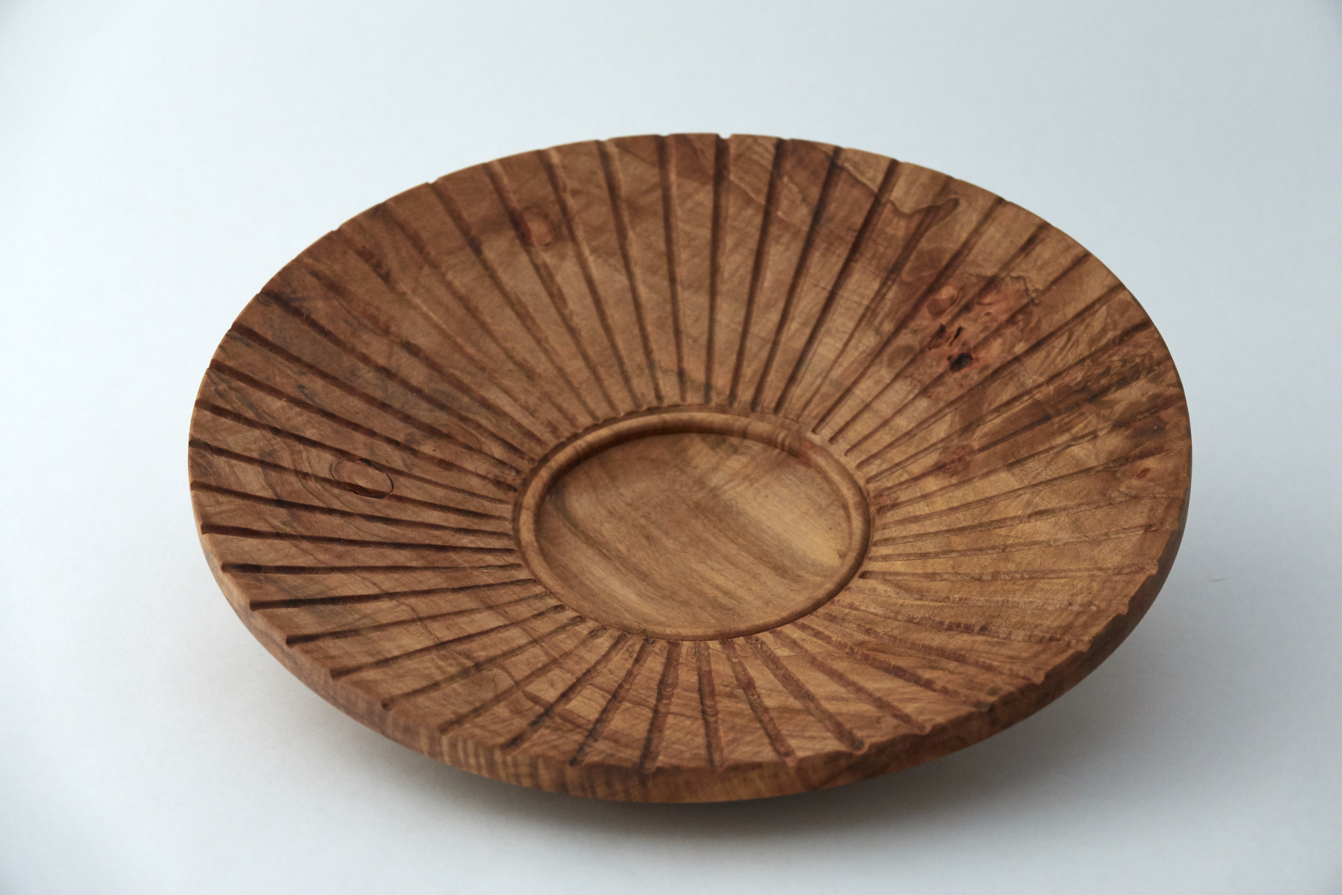 Carved Maple Plate